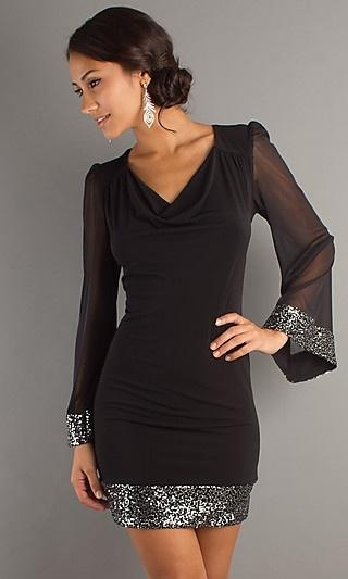 Short Formal Dresses With Long Sleeve Worldgirlus